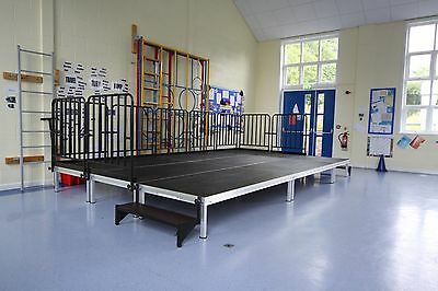 5m x 3m Portable Stage, Modular Stage System, School Indoor/Outdoor Staging