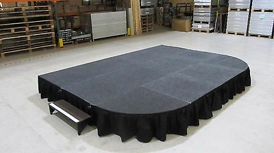 4m x 3m Portable Stage, Modular Stage System, School Indoor/Outdoor Staging