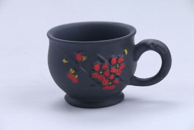 Exquisite Chinese Hand carving Yixing red stoneware teapot aa653