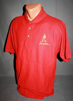 Johnnie Walker Whisky Whiskey Polo Shirt Hemd Men Man Herren Gr. M Rot Gelb NEU