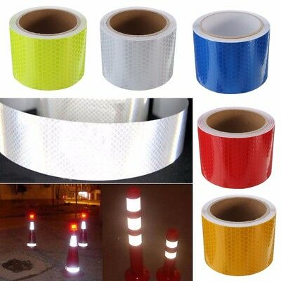 Car Truck Reflective Safety Warning Conspicuity Roll Tape Film Sticker Decal 1M