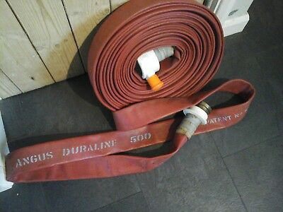 "Angus Duraline 500 3"" Lay Flat Fire Hose 25m inc Couplings."