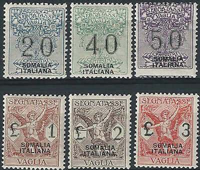 1926 Somalia TV d'It sopr 6v SL (MNH) Cat Sass Tv 7/12 € 550,00