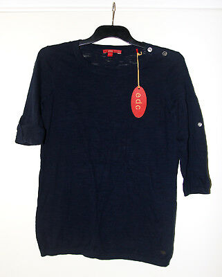 New EDC by Esprit navy blue fine knit jumper size small 8 NWT