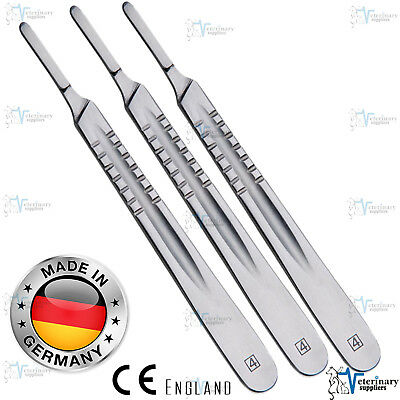 Scalpel HANDLE NO 4 For SURGICAL BLADES 20-25 Cutting TOOL Stainless Steel ce x3