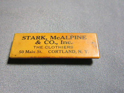 VINTAGE STARK & McALPINE & CO THE CLOTHIERS STORE CORTLAND NY SHARPENING STONE