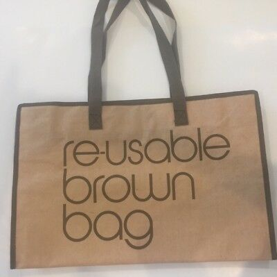 New Bloomingdales Brown Reusable Bag-Zipper closing FREE SHIPPING!!!