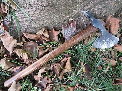 Hand Forged Spike Tomahawk Curly Maple Handle Shoulder Harness