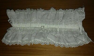 Vintage mens white lace edged choristers choir ruff collar xl xxl 19 inch neck