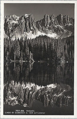 LAGO DI CAREZZA col LATEMAR - NV - FP - Ed. Franzl 1935