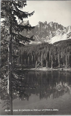 LAGO DI CAREZZA col LATEMAR - V 1950 - FP