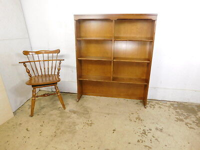 "VTG CRP Ethan Allen Room Plan Nutmeg Solid Maple 40""  Hutch Double Bookcase Top"
