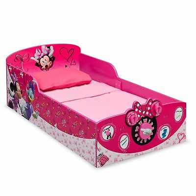 Delta Children Minnie Mouse Interactive Wood Toddler Bed Kids Bedroom Furniture