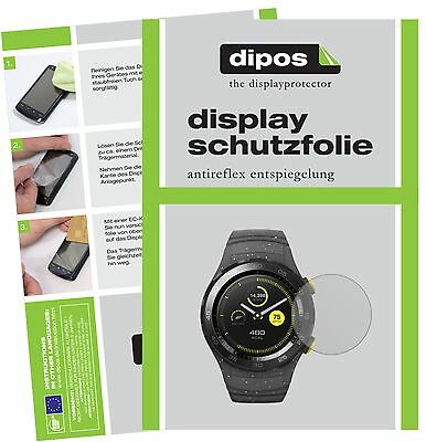 6x Huawei Watch 2 Schutzfolie matt Displayschutzfolie Folie dipos Displayfolie