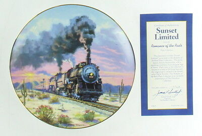 Lot Of 3 Assorted Railroads Hamilton Collection Plates