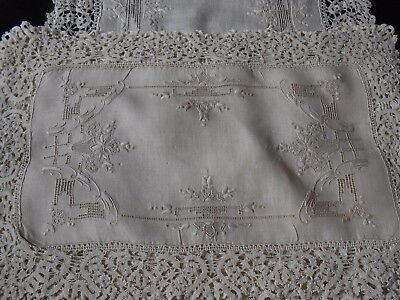 Cantu Italian Bobbin Lace  8 Placemats And Runner