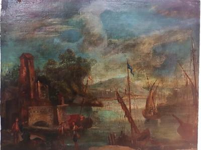 Antique European  Oil Painting Anonymous 18th Century