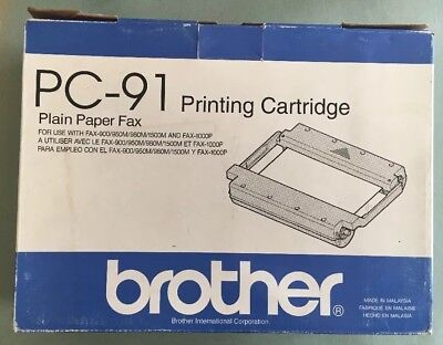 Brother PC-91 Printing Cartridge Plain Paper Fax NOS