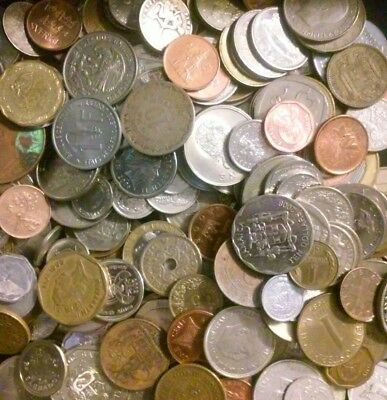 Bulk Lot of  100 Assorted World Coins- Circulated- Free Shipping