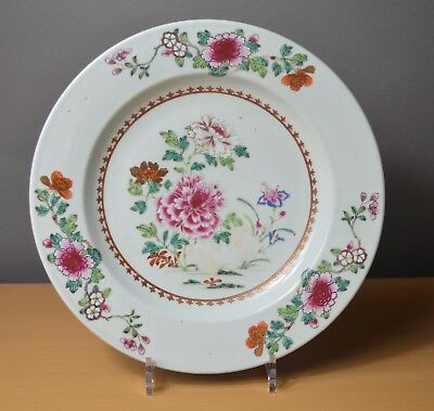 Beautiful Large Chinese plate Qianlong Famille rose 18th century (n°3)