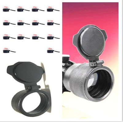 Hunting Rifle Scope Cover Flip Up Cap Open Objective Lens Eye 1pcs
