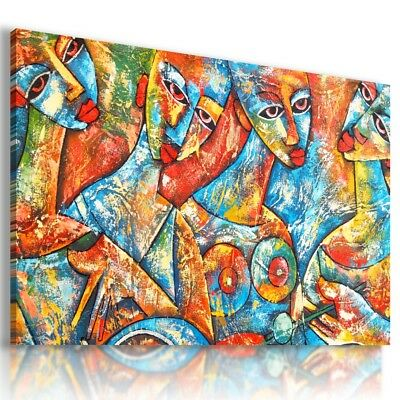 LITTLE STONES MOSAIC MODERN CANVAS WALL ART PICTURE LARGE AB873 X MATAGA .