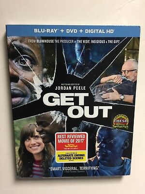 Get Out (Blu-ray/DVD, 2017, 2-Disc, Digital HD) NEW w/slipcover