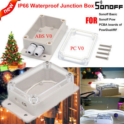 Sonoff  IP66 ABS Waterproof Junction Box Case 132.2*68.7*50.1 Smart Switch Timer