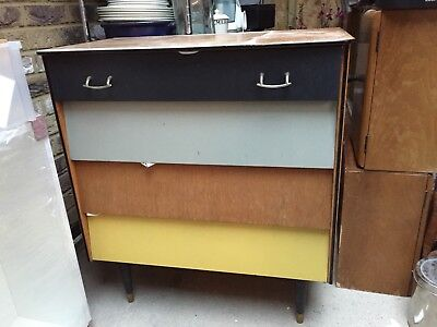 Wooden Drawers Vintage 1950's