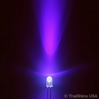 10 x LED UV 5mm Ultraviolet - USA Seller - Free Shipping