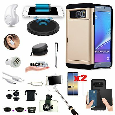 Pocket Case Qi Wireless Charger Earphone Lens Accessory For Samsung Galaxy S8