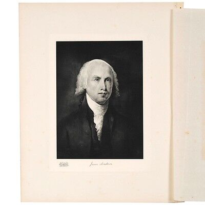 James Madison Limited Edition Photogravure Portrait Plate and Biography #8444