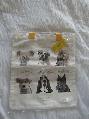 Radley tote / shopping bag Dogs' Trust BNWT dog dogs bag for life unused