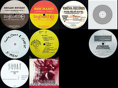 "9 x Techno 12"" 1992-98 PureSonik,Sativae,Squat,Hybrid…"