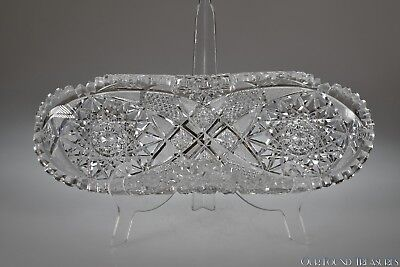 """c. 1900s HOBSTAR, HATCHED DIAMOND, ZIPPER, CANE by unknown ABP 11.25"""" L Celery"""
