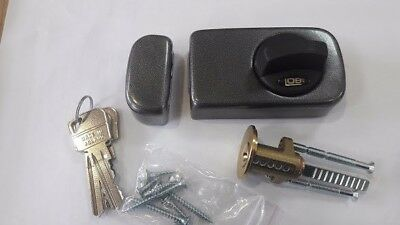 LOB Rim Lock Door Lock Deadbolt Night Latch With 3 keys
