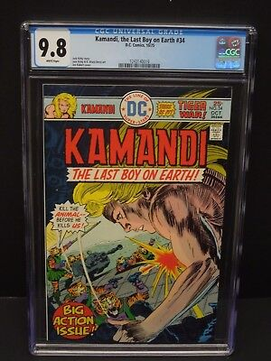 Dc Kamandi The Last Boy On Earth #34 1975 Cgc 9.8 White Pages Jack Kirby