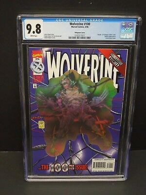 Marvel Comics Wolverine #100 1996 Cgc 9.8 White Pages Hologram Cover