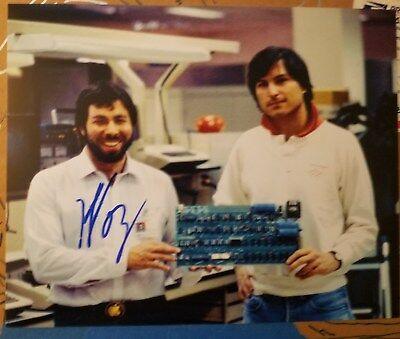 Steve Wozniak Hand Signed 8x10 Apple Founder Inventor DWS
