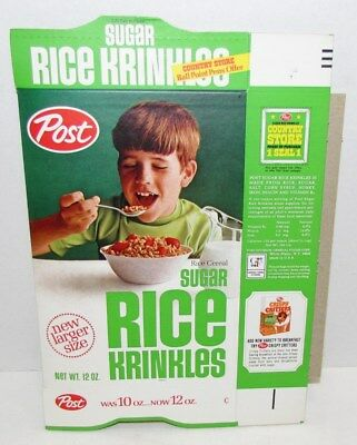 1960's Rice Krinkles Cereal Box, mint box flat, Gomer Pyle