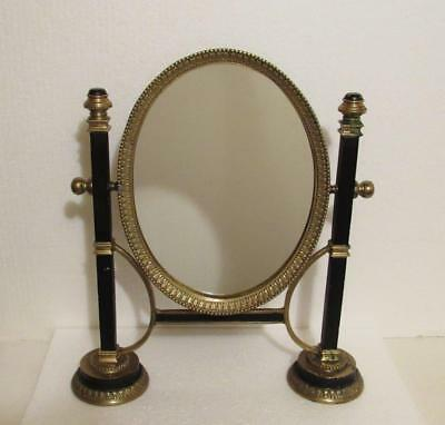 Victorian Style Mirror Solid Brass Stand Store Table Top Vanity