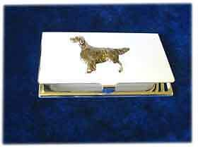 English Setter Silver Business Card Case LAST ONE!