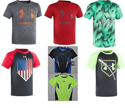 Under Armour Toddlers Short Sleeve HeatGear 2T - 7 Various Styles