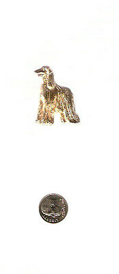 Afghan Hound Gold Plated Brooch Pin Jewelry LAST ONE!