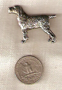 Border Terrier Nickel Silver Brooch Pin Jewelry LAST ONE!