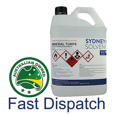 Mineral Turpentine Turps Paint Cleaner Solvent Degreaser Paint Thinner 5 Litre