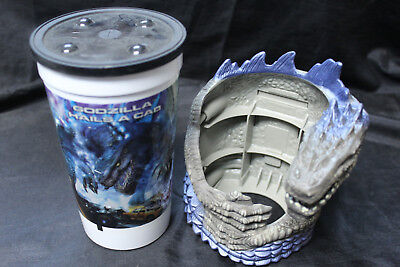 1998 Godzilla Taco Bell Promotional Collectors Cup & Holder 3 Different Versions