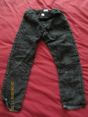 Tesco (F&F) Black Elasticated Waist/Button Fly Jeans - 4-5 years - Exc Cond!!