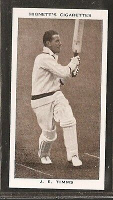 Hignett-Prominent Cricket Ers Of 1938-#29- Northamptonshire - J Timms
