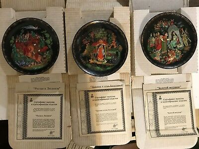 """Lot of 3 Bradford Exchange """"Russian Legends Collection"""" Plates #1, #2, and #3"""